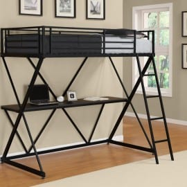 cheap loft beds with desk