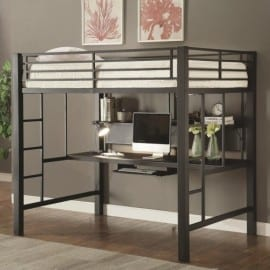 teen loft bed with workstation
